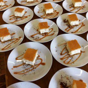 Dessert maison du chef pour repas de groupe en ariége
