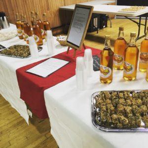 Buffet petit déjeuner maison et produits locaux pour séminaire