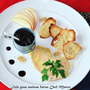 Foie gras maison selon la recette de notre chef Marco