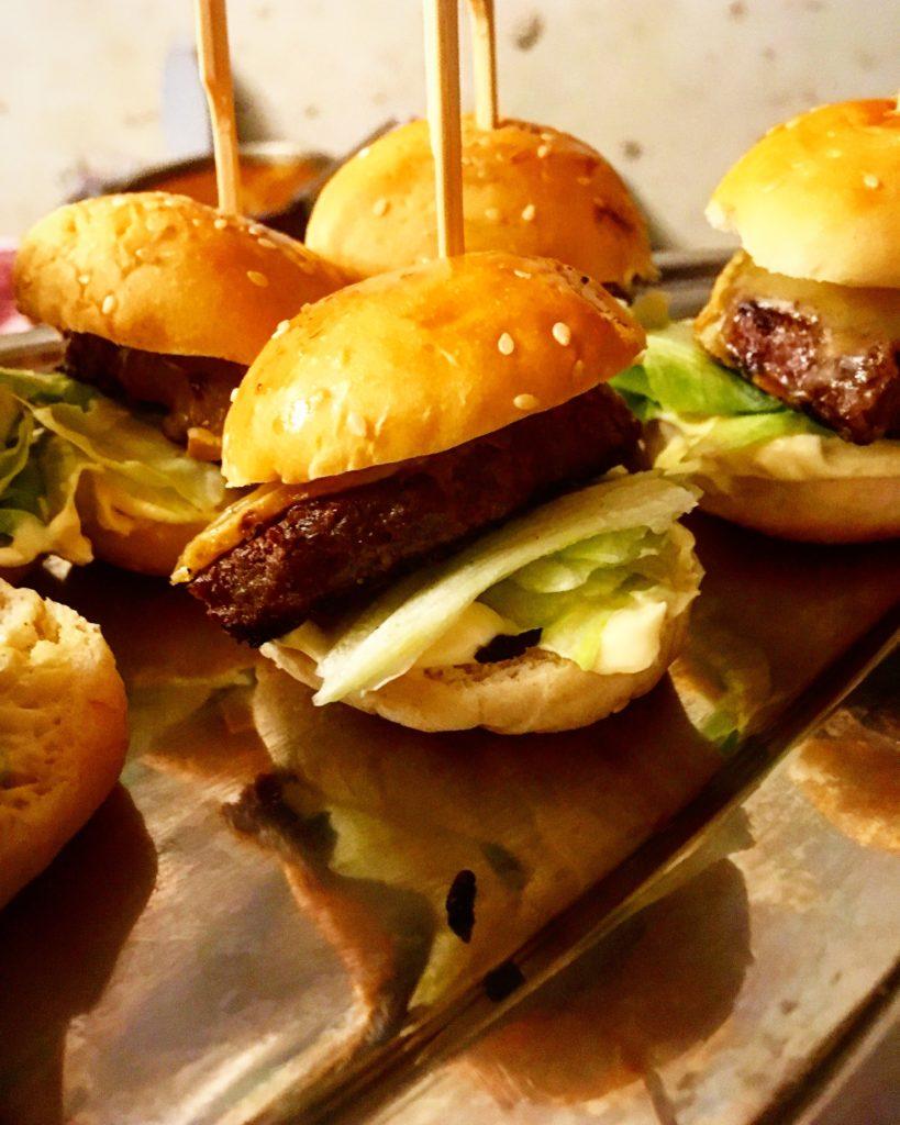 Mini-burger pour apéritif dinatoire