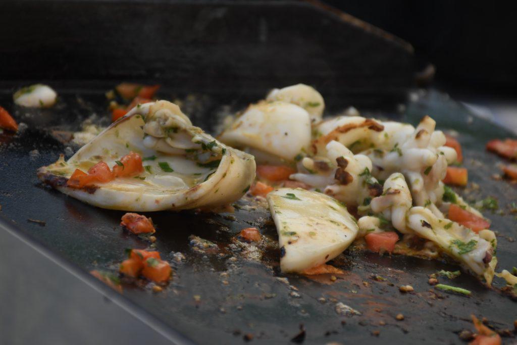 seiches cuisinées à la plancha